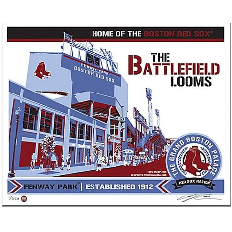 bed bath and beyond fenway mlb boston red sox fenway park my ticket serigraph bed