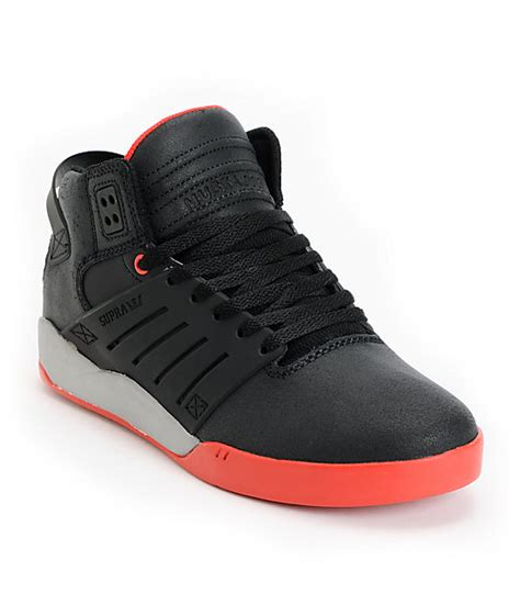 supra skytop ii c supra skytop iii black red grey skate shoes zumiez