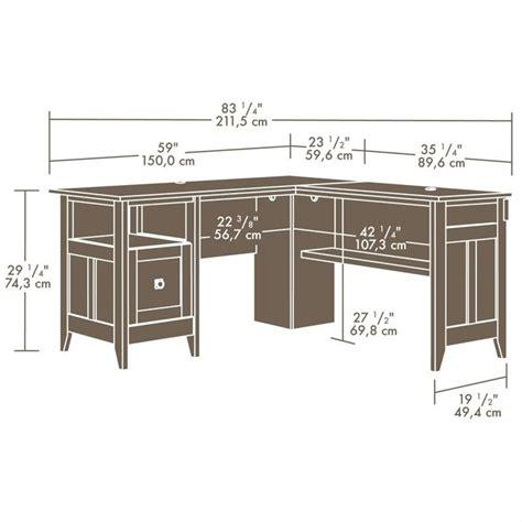 gillespie l shaped desk l desk in dover oak 412320