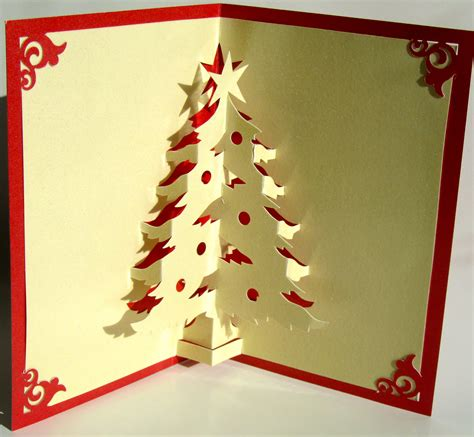 christmas tree pop up up greeting card home d 233 cor 3d handmade