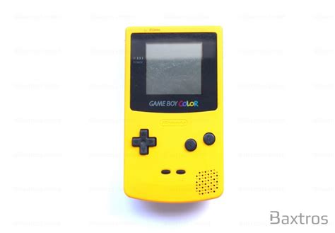 gameboy color nintendo gameboy color yellow console baxtros