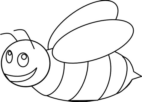 honey bee template bee outline pencil and in color bee outline