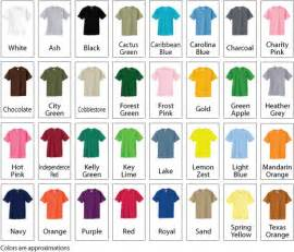 tshirt colors shirt color chart kd s graphicskd s graphics