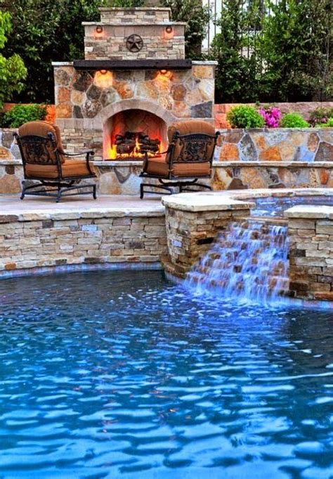 beautiful backyard pool and fireplace beautiful homes