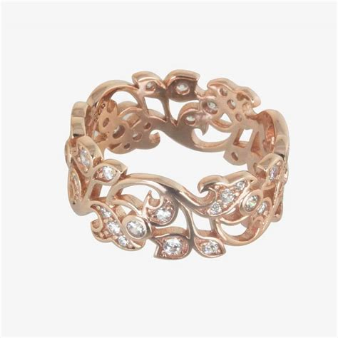 rose gold carolina rose gold finish sterling silver diamonflash