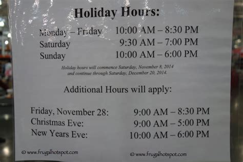 costco hours new years day costco shopping hours 2014 frugal hotspot