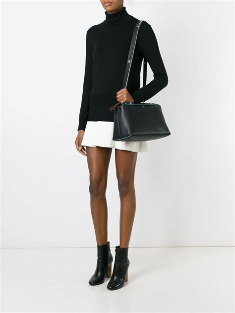 Fendi By The Way Tricolours lyst fendi by the way large tote in black
