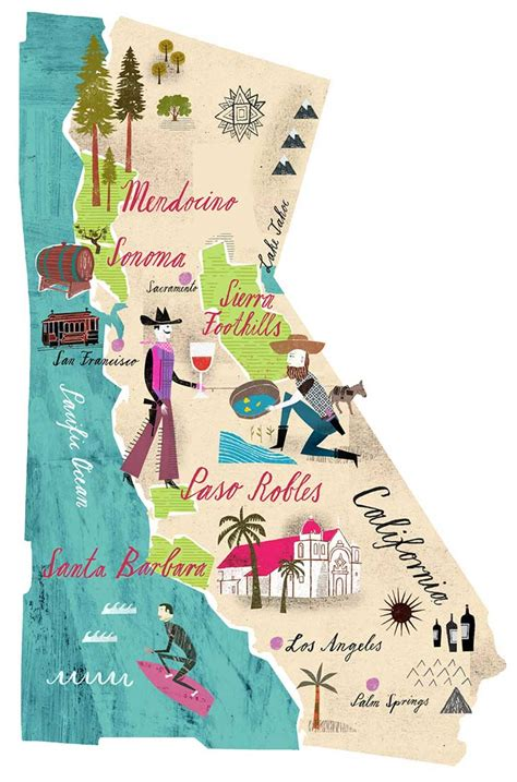 california map illustration california dreaming and other weekend notes