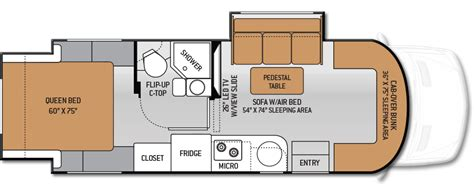mercedes sprinter floor plan 2015 thor motor coach four winds siesta sprinter rv for