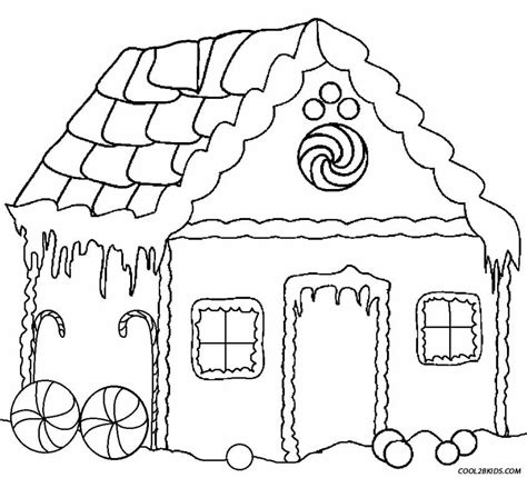 coloring page gingerbread house printable gingerbread house coloring pages for kids