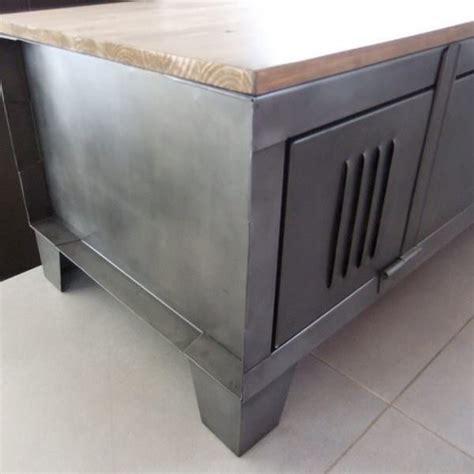 meuble tv industriel avec ancien vestiaire heure cr 233 ation