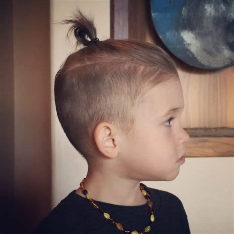 ponytail with an a line cut little boy hairstyles 81 trendy and cute toddler boy