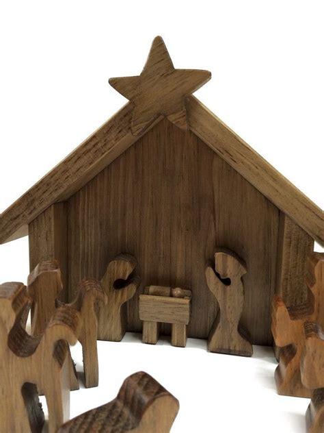 nativity sets in lancaster pa amish made 14 wooden nativity manger set nativity
