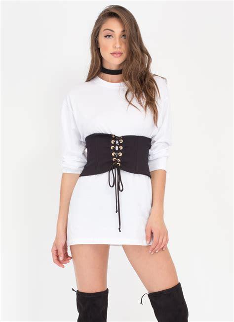 Jacket Sweater Anak Hoodie Crop Maroon Gj hourglass figure stretchy lace up corset black gojane