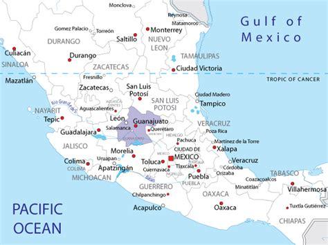 Guanajuato Mexico Map by Map Of Guanajuato In Mexico