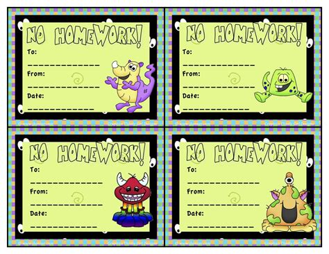 free homework pass template homework pass printable invitation templates education