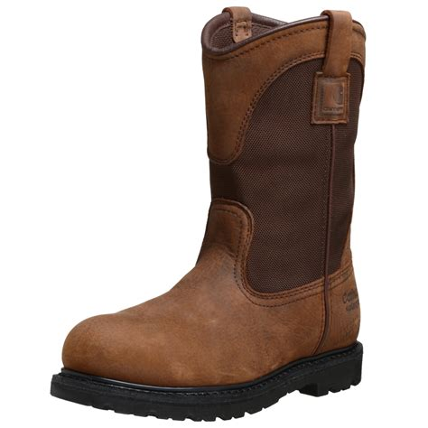 pull on boots carhartt mens waterproof pull on boot in brown for lyst