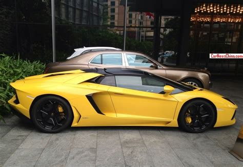 yellow lamborghini aventador lamborghini aventador lp 700 4 roadster is yellow in china