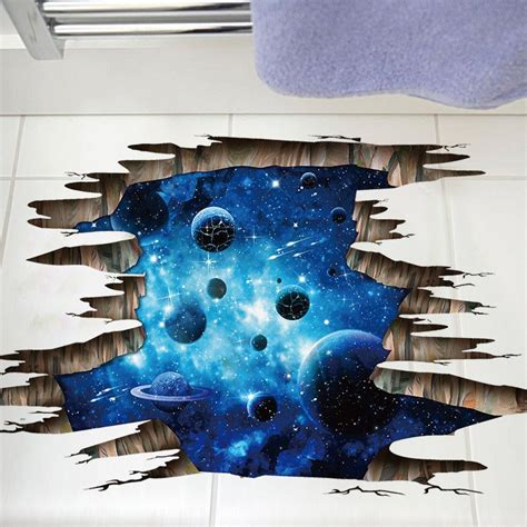 Ohome Pajangan 3d Poly Dress In Blue Decor Ev Sp 3914 B home decoration 3d galaxy planet removable wall stickers for decor in blue sammydress