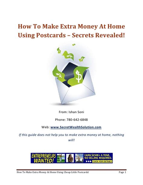 top how to make money at home on make money at