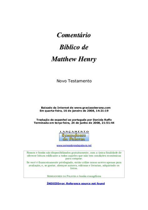 comentario biblico matthew henry 8482678205 coment 225 rio b 237 blico nt matthew henry
