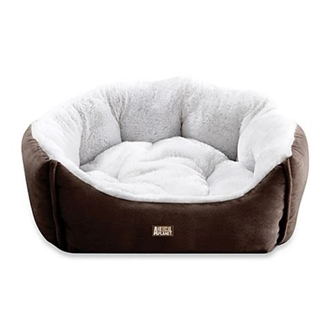 animal planet bed buy animal planet micro suede pet bed in brown from bed bath beyond
