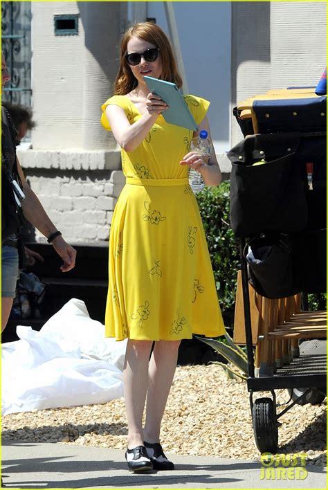 emma stone yellow la la land dress full sized photo of emma stone vintage dress la la land 09