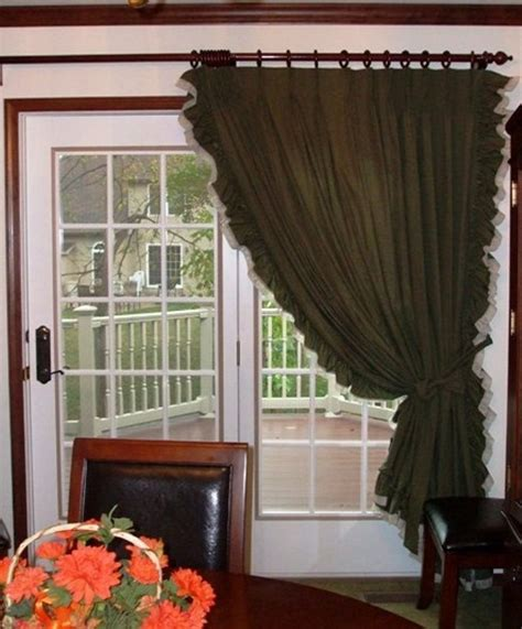 curtains for door patio door curtains patio door ruffled curtains primitive