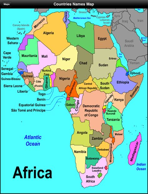 map of africa with country name bilingual social science