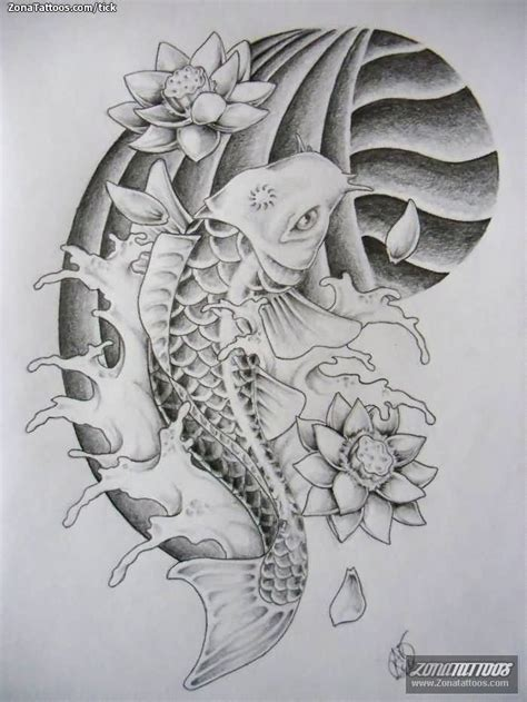 a beautiful draw koi fish tattoo design tattooshunter com
