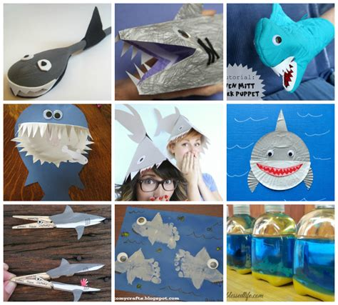 How To Make A Paper Shark Hat - 30 shark crafts and recipes for i arts n crafts