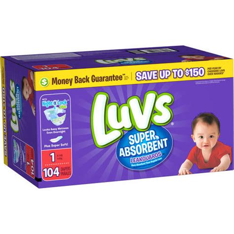 diapers walmart luvs absorbent disposable diapers jumbo pack choose your size walmart