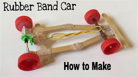 How To Make A Race Car Out Of Paper - how to make a rubber band car fast and powerful