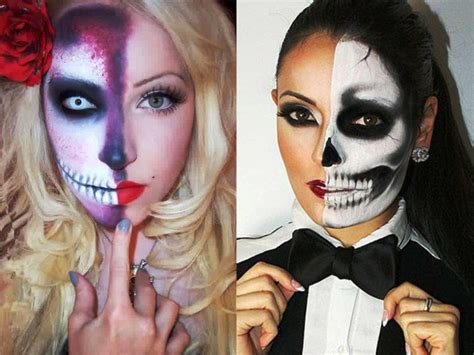 imagenes de halloween para pintar la cara maquillaje para hombre y mujer para halloween