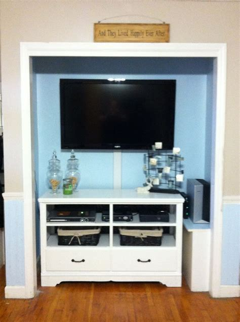 Entertainers In The Closet by Dresser Into A Tv Unit And A Closet Into A Entertainment