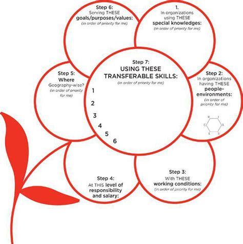 flower diagram what color is your parachute what color is your parachute worksheets stinksnthings
