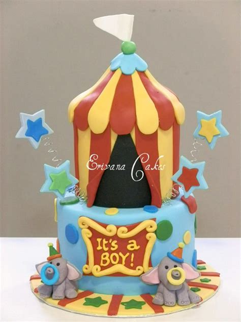 Circus Themed Baby Shower Cakes by Photo Gallery Erivana Cakes
