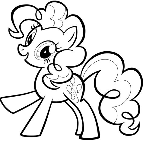 Pinkie Pie Coloring Page by Pinkie Pie Coloring Pages Clipart Best