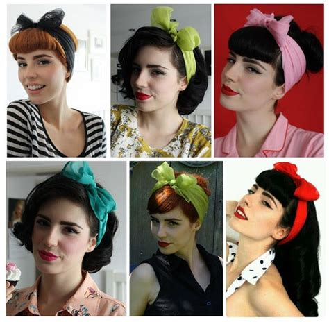 Different Pin Up Hairstyles by Different Pin Up Hair Looks Take A Scarf Wrap It Around