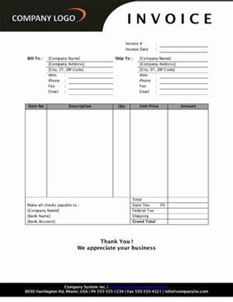 sales invoice open office templates