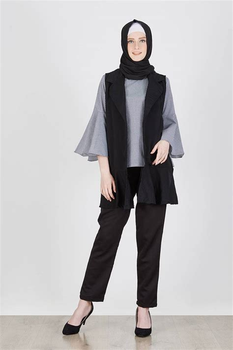 Sell Benicta Blouse Black Tops   Hijabenka.com