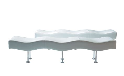 modern white leather bench ultra modern white leather steel curved bench ambience dor 233