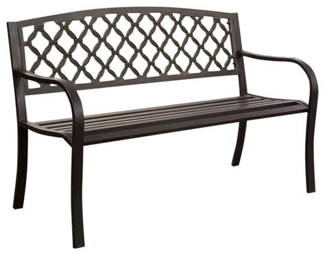 black metal garden bench 4 metal garden bench with bronze highlights over antique