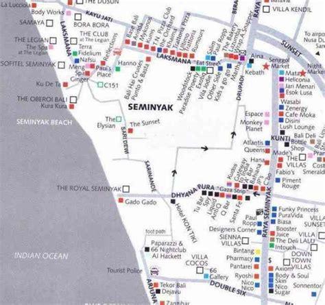 map  seminyak bali holiday map  holidaymapqcom