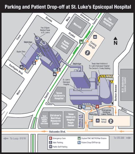 Tmc Parking Garage Map by Location Institute