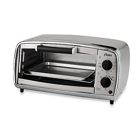 bed bath beyond toaster oster 174 4 slice stainless steel toaster oven bed bath