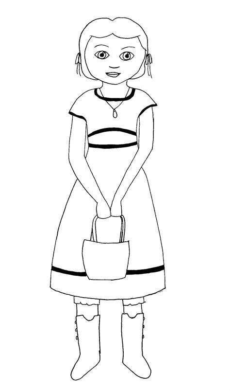 josefina coloring page american girl american girl coloring pages beforever
