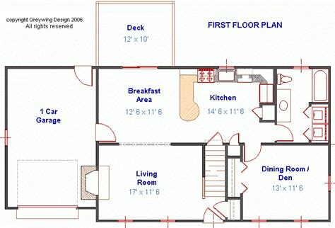 Cape Cod Style Floor Plans by Plan G070411