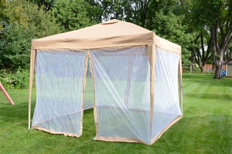 10 x10 deluxe gazebo canopy with net outdoor party tent