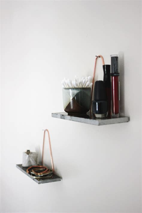 Mini Wall Shelf Diy Mini Copper Marble Shelves 187 The Merrythought